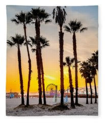 Santa Monica Palms Fleece Blanket