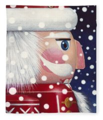 Santa Nutcracker Fleece Blanket