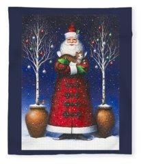 Santa's Cat Fleece Blanket