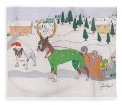 Santas Helpers Fleece Blanket