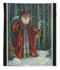 Santa's Journey Fleece Blanket