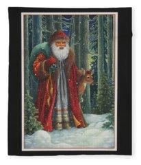 Santa's Journey Fleece Blanket