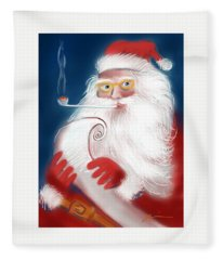Santa's List Fleece Blanket