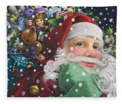 Santa's Toys Fleece Blanket