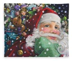 Santa's Toys Fleece Blanket