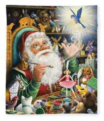 Santa's Workshop Fleece Blanket