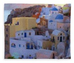 Santorini Grk6424 Fleece Blanket