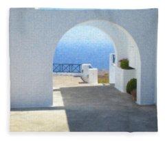 Santorini Grk8681 Fleece Blanket