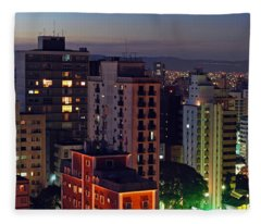 Sao Paulo Downtown At Dusk Fleece Blanket
