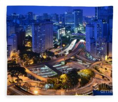 Sao Paulo Skyline - Downtown Fleece Blanket