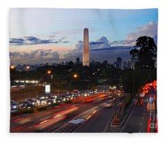 Sao Paulo Skyline - Ibirapuera Fleece Blanket