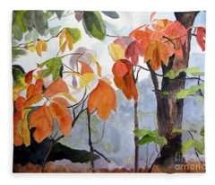 Sassafras Trees On The Ridge Fleece Blanket