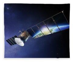 Earth Orbit Photographs Fleece Blankets