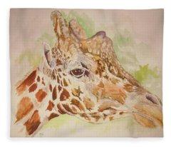 Savanna Giraffe Fleece Blanket