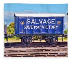 Fleece Blanket featuring the photograph Save For Victory by Paul Gulliver
