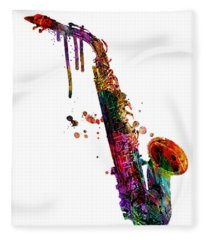 Saxophone 2 Fleece Blanket