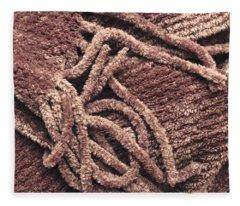 Scarf Close Up Fleece Blanket