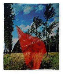 Scarf In The Winds Fleece Blanket