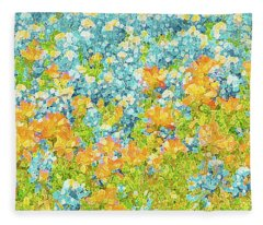 Scattered Impressions Bold Wildflowers  Fleece Blanket