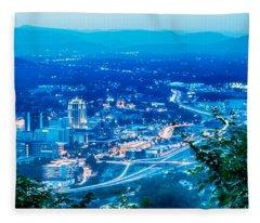 Scenics Around Mill Mountain Roanoke Virginia Usa Fleece Blanket