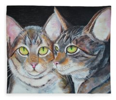 Scheming Cats Fleece Blanket