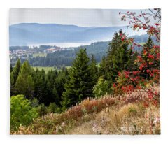 Schluchsee In The Black Forest Fleece Blanket