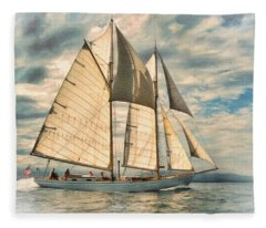 Schooner 101a Fleece Blanket