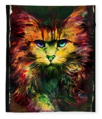 Schrodinger's Cat Fleece Blanket