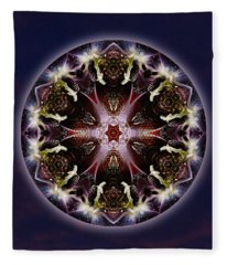 Scorpio Moon Warrior Fleece Blanket