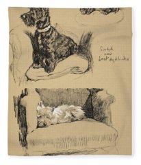Scotch And West Highlander, 1930 Fleece Blanket