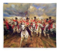 Scotland Forever During The Napoleonic Wars Fleece Blanket