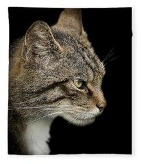 Scottish Wildcat Fleece Blanket