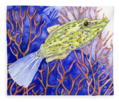 Scrawled Filefish Fleece Blanket