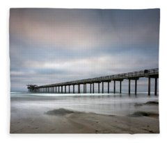 Scripps Pier Wide -lrg Print Fleece Blanket