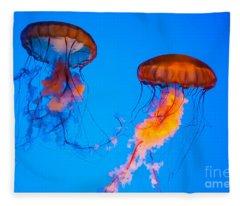 Sea Nettles Fleece Blanket