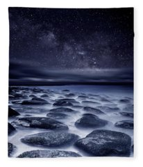 Sea Of Tranquility Fleece Blanket