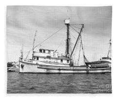 Purse Seiner Sea Queen Monterey Harbor California Fishing Boat Purse Seiner Fleece Blanket