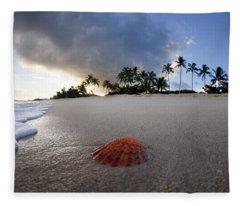 Sea Shell Sunrise Fleece Blanket
