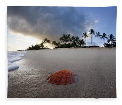 Sea Shell Sunrise Fleece Blanket
