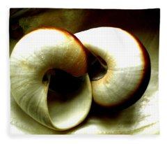 Sea Shells Meeting Fleece Blanket