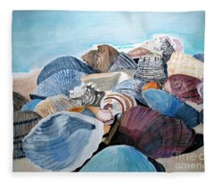 Sea Shells Fleece Blanket