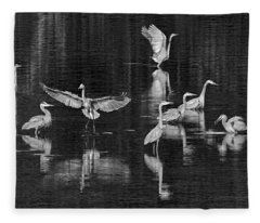 Seabeck Herons Fleece Blanket