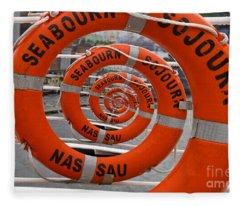 Seabourn Sojourn Spiral. Fleece Blanket
