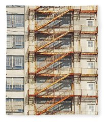 Sears Crosstown Fire Escape Memphis Tn Fleece Blanket