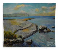 Seascape From Hamina 1 Fleece Blanket