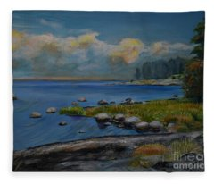 Seascape From Hamina 2 Fleece Blanket