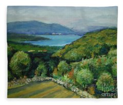 Seascape From Kavran Fleece Blanket