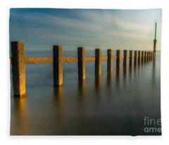 Seascape Wales Fleece Blanket