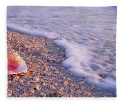 Seashell On The Beach, Lovers Key State Fleece Blanket