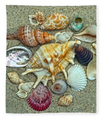 Seashells Collection Fleece Blanket